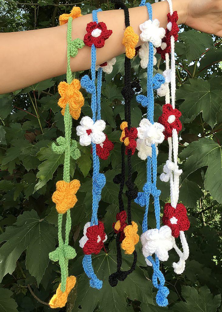 Free Crochet Pattern for a Flower Chain