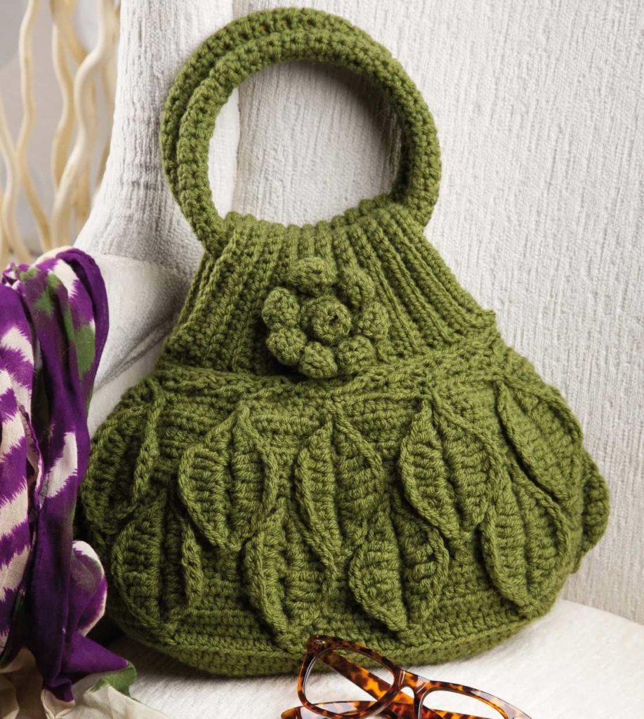 Crochet Leaf Bag Pattern