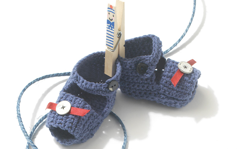 Free Crochet Pattern for Baby Sandals