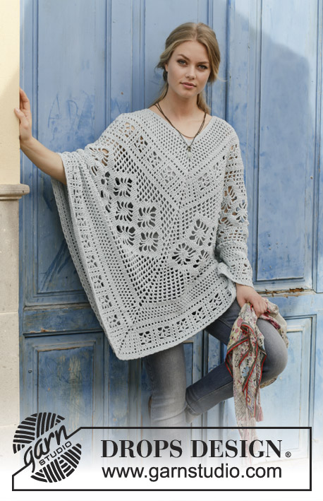 Free Crochet Pattern for Cressida Lace Poncho