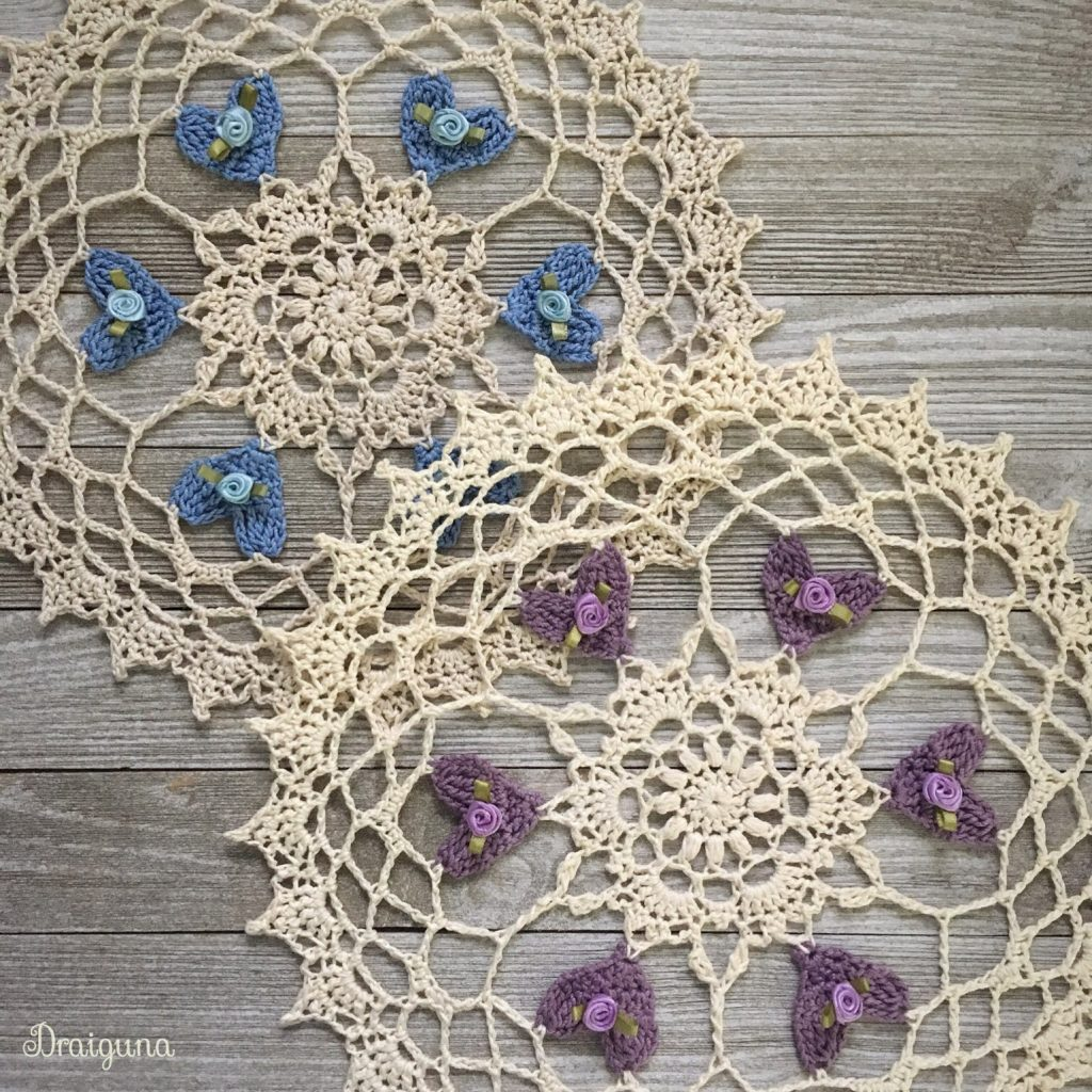 Free Crochet Pattern for Heartblossoms Doily