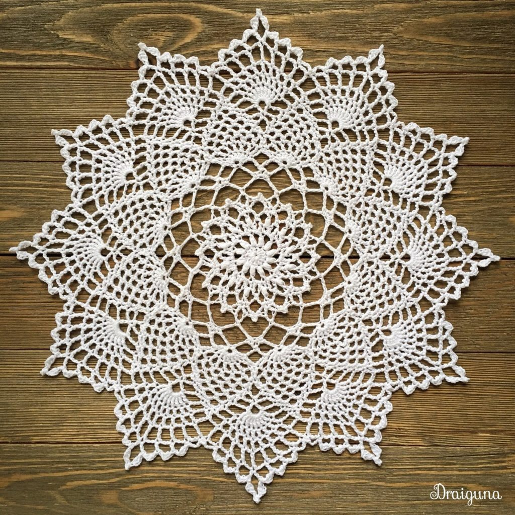 Free Crochet Pattern for Moonpetals Doily