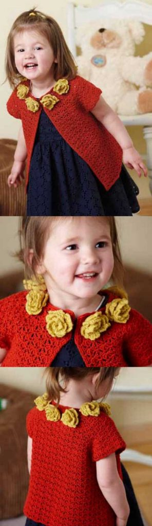 Free Crochet Pattern for a Baby Girl Cardigan