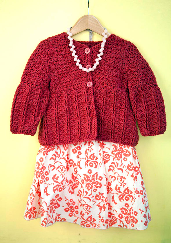 Free Crochet Pattern for a Child's Cardigan