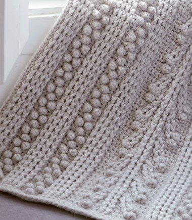 Free Crochet Pattern For A Chunky Bobbled Blanket ⋆ Crochet Kingdom Enchanting Crochet Patterns