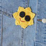 Free Crochet Pattern for a Cool Sun Appliqué