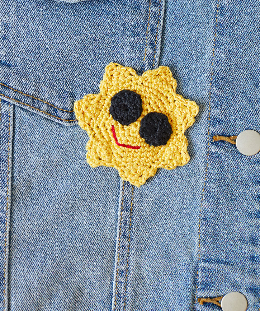 Free Crochet Pattern for a Cool Sun Appliqué