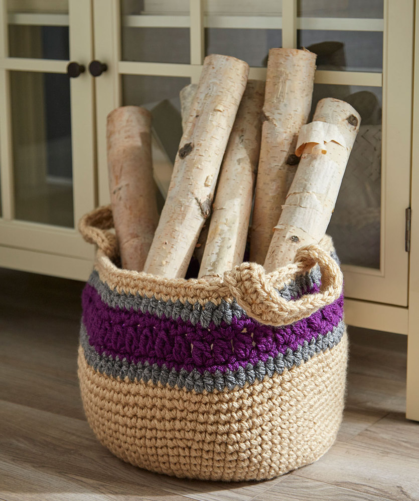 Free Crochet Pattern for a Handy Storage Basket