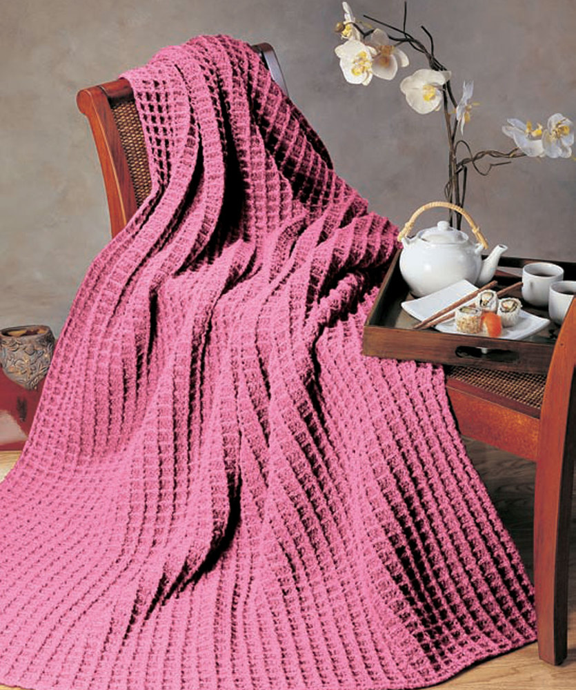 Free Crochet Pattern for a Jeté à Carreaux Blanket
