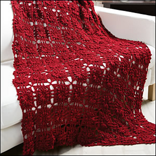 Free Crochet Pattern for a Merlot Throw