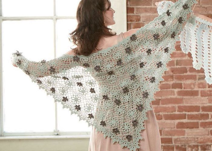 Free Crochet Pattern for a Promenade Shawl