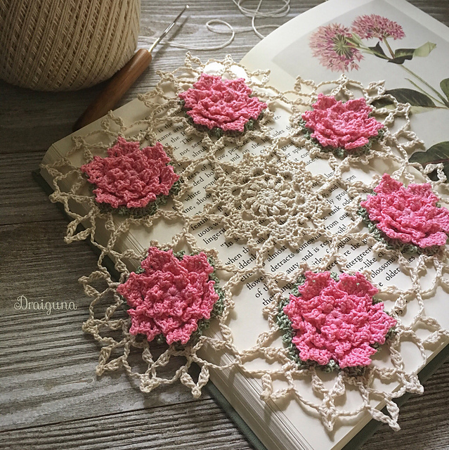 Free Crochet Pattern for a Talandra's Rose Doily