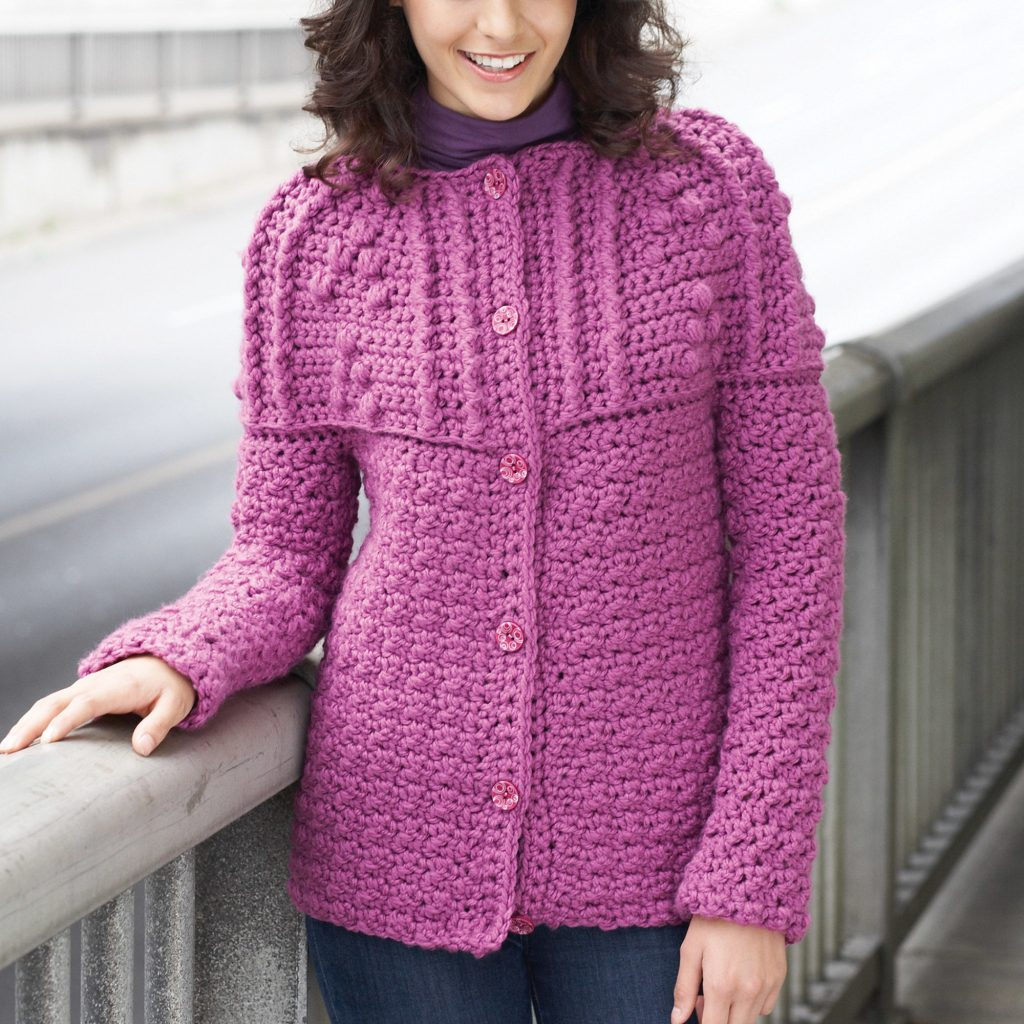 Free Crochet Pattern for a Yoke Cardigan