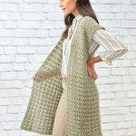 Free Crochet Pattern for Sage Stitch Long Cardigan