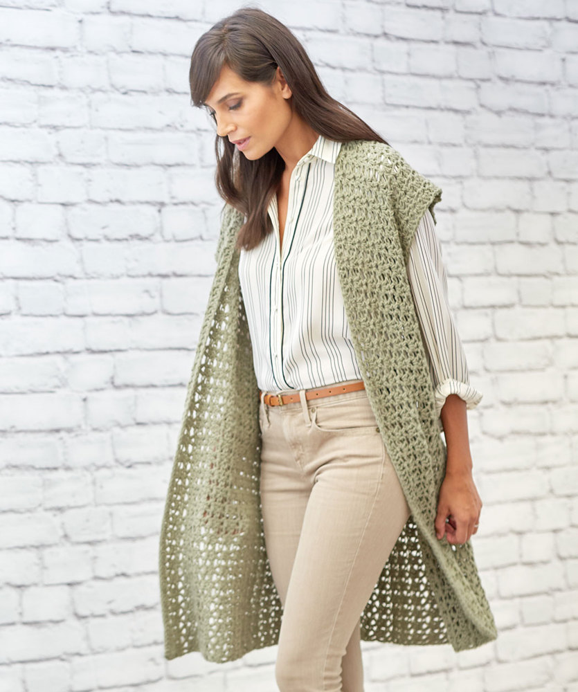 Free Crochet Pattern for Sage Stitch Long Cardigan