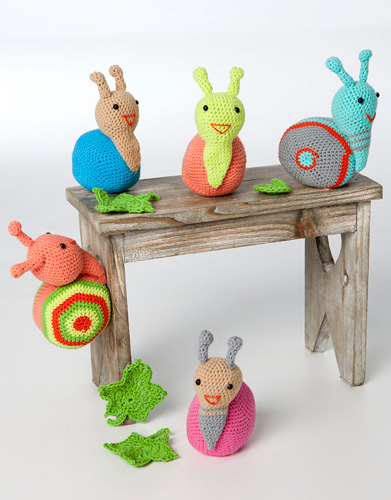 Free Crochet Pattern for Snail Amigurumi