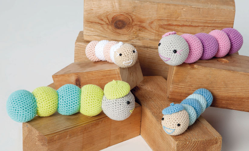 Free Crochet Pattern for a Caterpillar Amigurumi