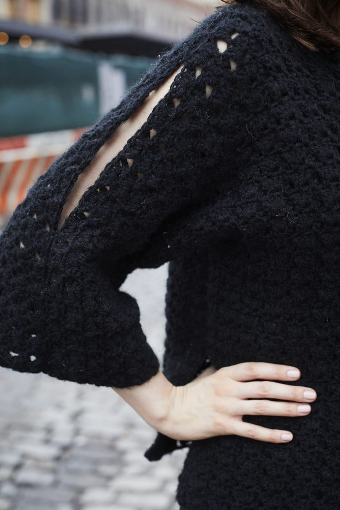 Free Crochet Pattern for a Film Noir Pullover