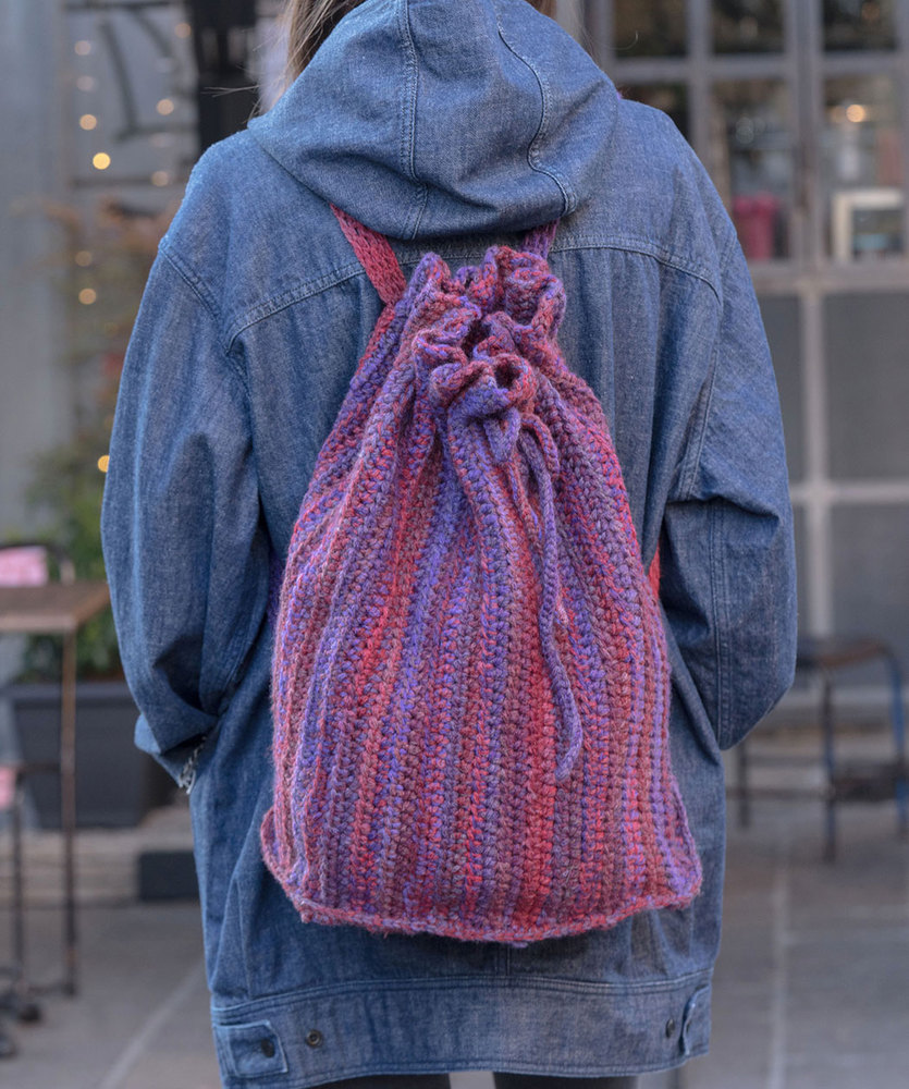 Free Crochet Pattern for a Fiore Rucksack