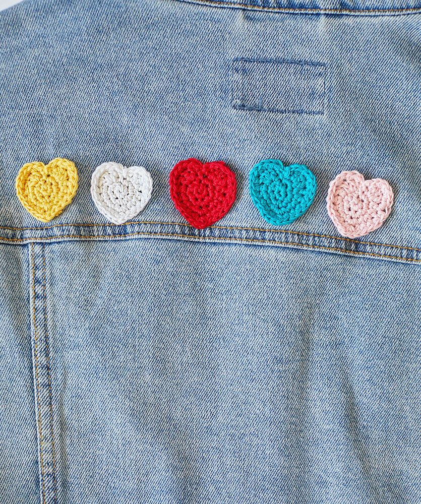 Free Crochet Pattern for a Friendship Hearts Applique