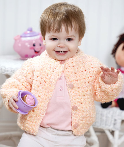Free Crochet Pattern for a Huggable Baby Jacket