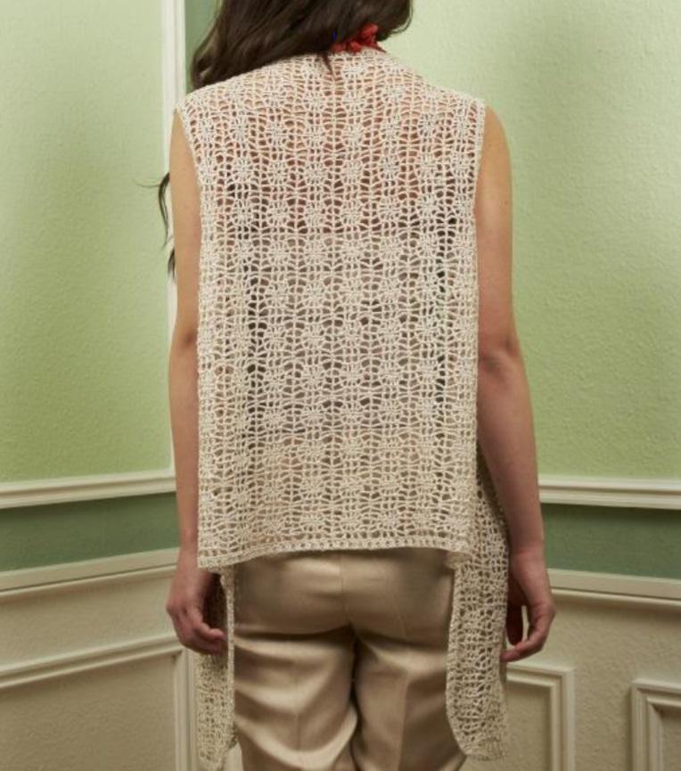 Free Crochet Pattern for a DesignEtte Allie's Vest