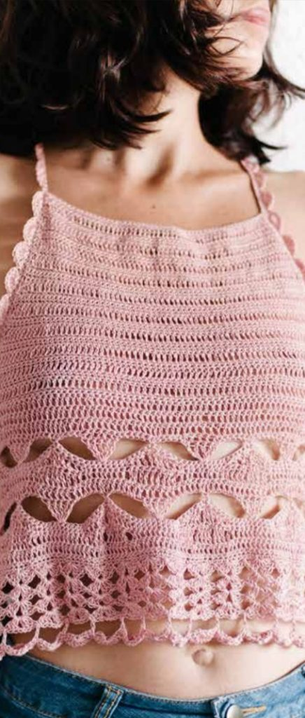Free Crochet Pattern for a Racer Back Camisole