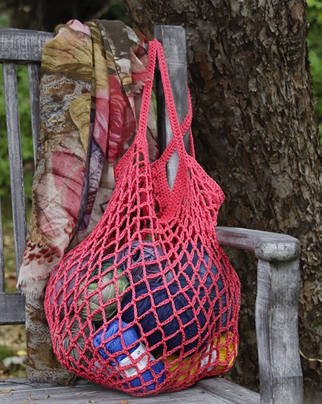 Free Crochet Pattern for a Sugar Mesh Shopping Bag