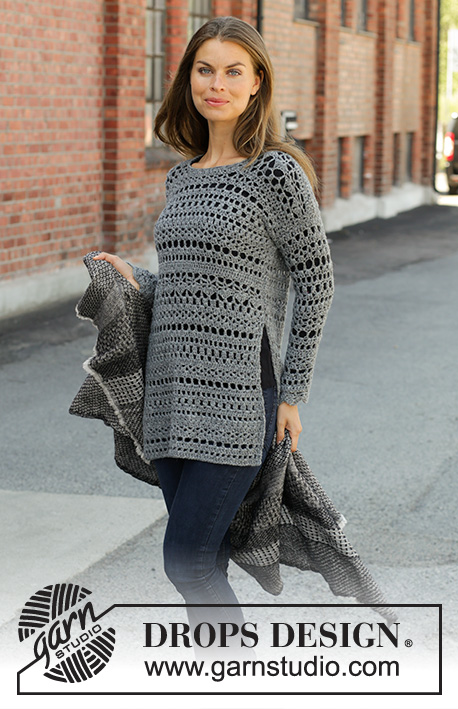 Free Crochet Pattern for a Sweater Grey Sparrow
