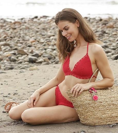 Free Crochet Pattern for a Waterfront Bikini