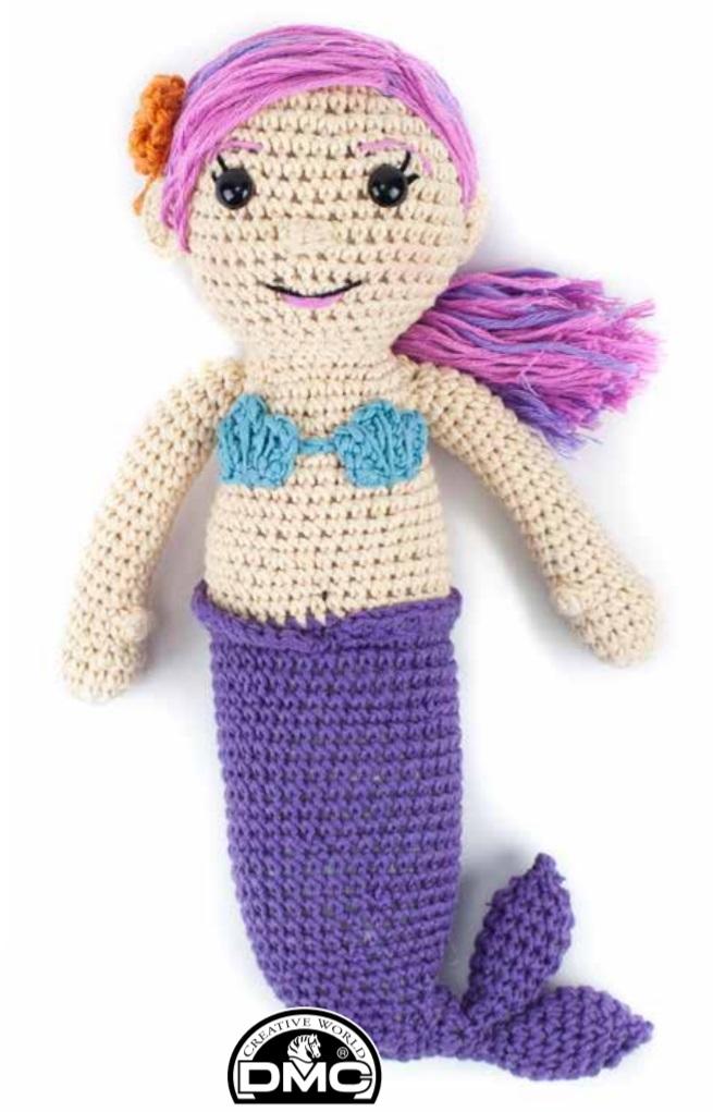 Free Crochet Pattern for an Amigurumi Mermaid
