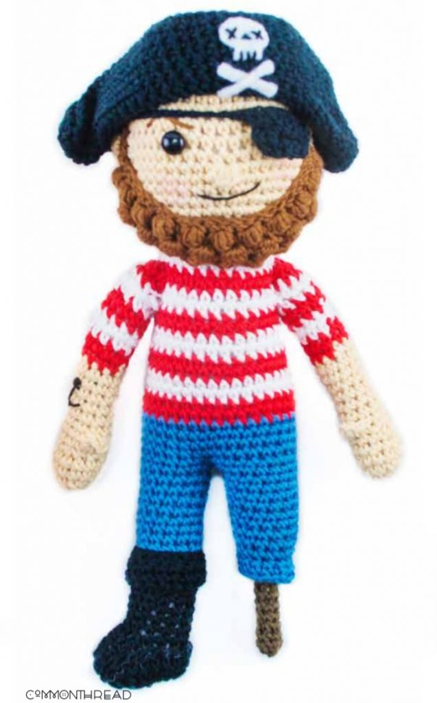 Free Crochet Pattern for an Amigurumi Pirate