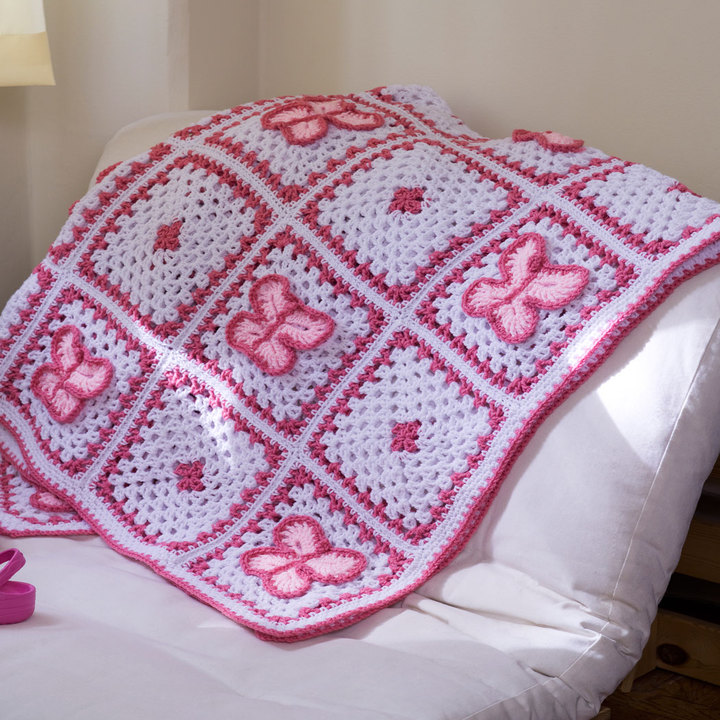 Free Pattern for a Crochet Butterfly Throw