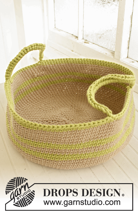 Free crochet pattern for a basket