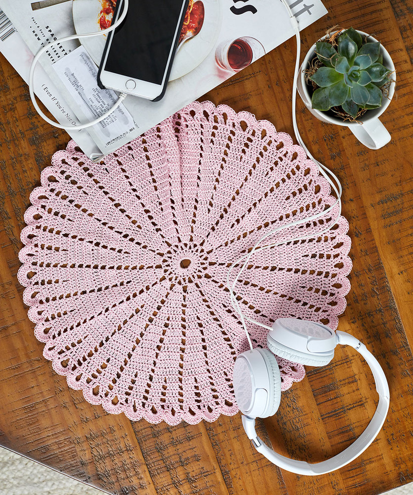 Free Crochet Pattern for a Boho Nights Doily