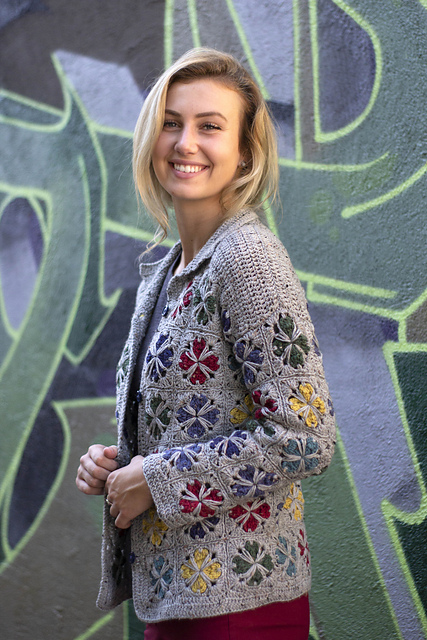 Free Crochet Pattern for a Mod Tiles Cardigan