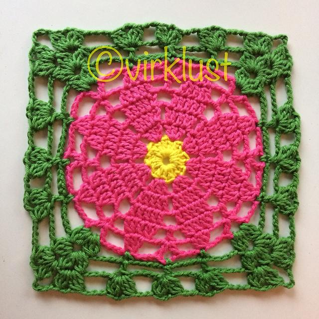 Free Crochet Pattern for a Primrose Square