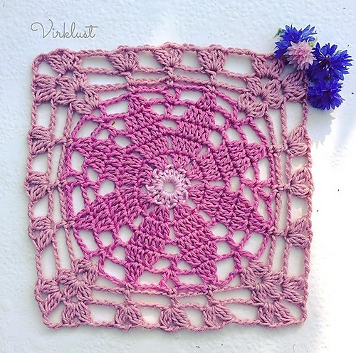 Free Crochet Pattern for a Primrose Square