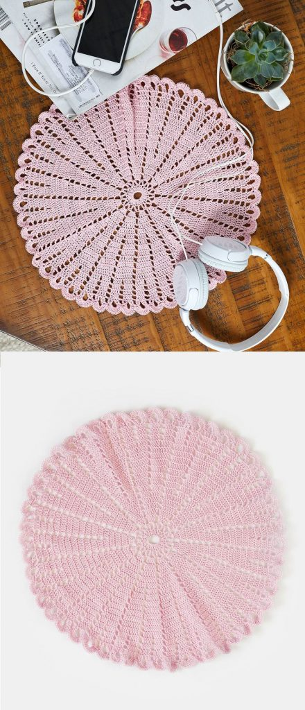 Free Crochet Pattern for a Round Doily. #crochet #doily #freecrochet #freecrochetpattern