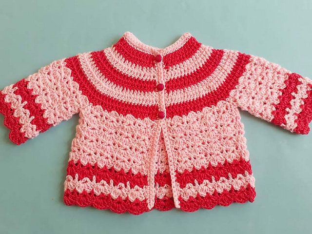 Free Crochet Patterns for Babies Cardigans