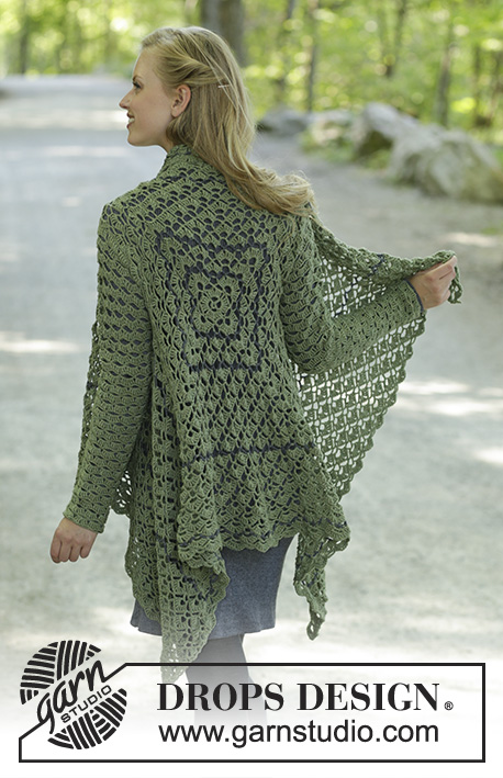 Free Knitting Pattern for a Jacket Green Envy
