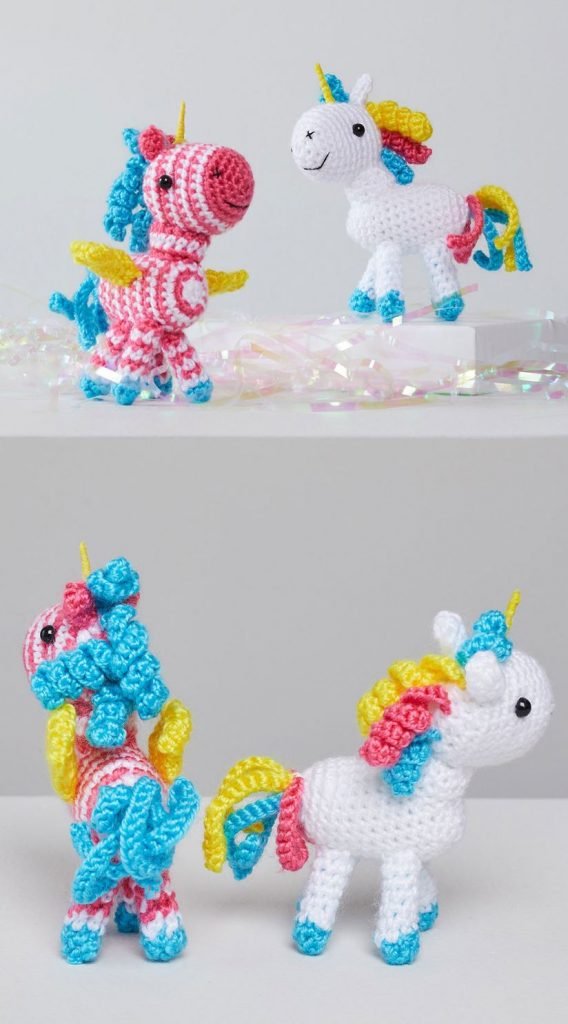 Free Crochet Pattern for Sparkle and Shimmer Unicorns