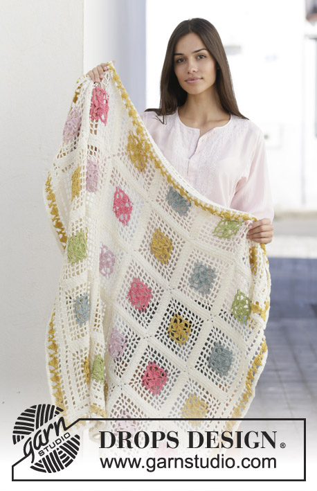 Free Crochet Pattern for Garden Patches Blanket. free afghan to crochet with squares.