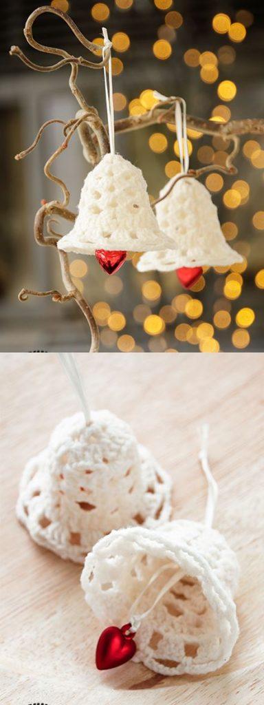 Free Crochet Pattern for Jingle Bell Ornaments