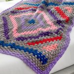 Free Crochet Pattern for a Diamond in the Rough Throw