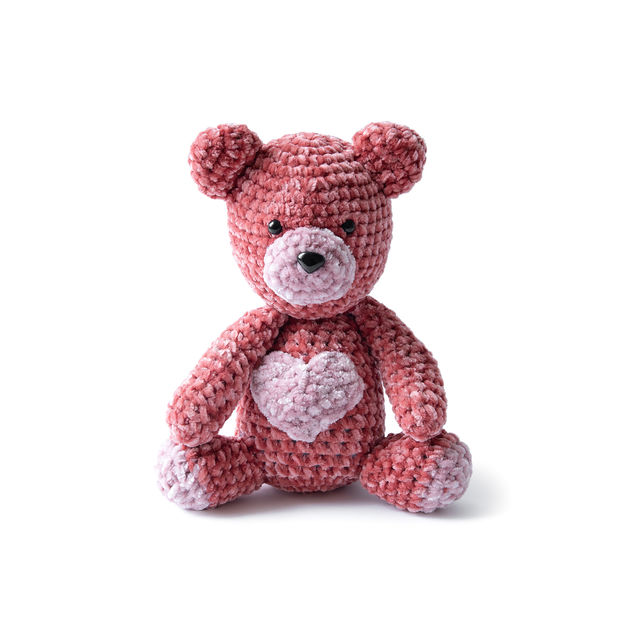 Free Knitting Pattern for a Teddy Bear in Velvet