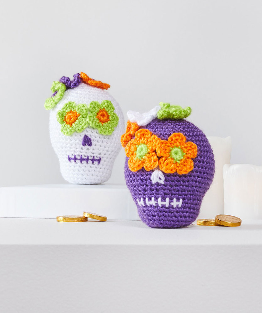 Free Pattern for Sweet Crochet Sugar Skulls