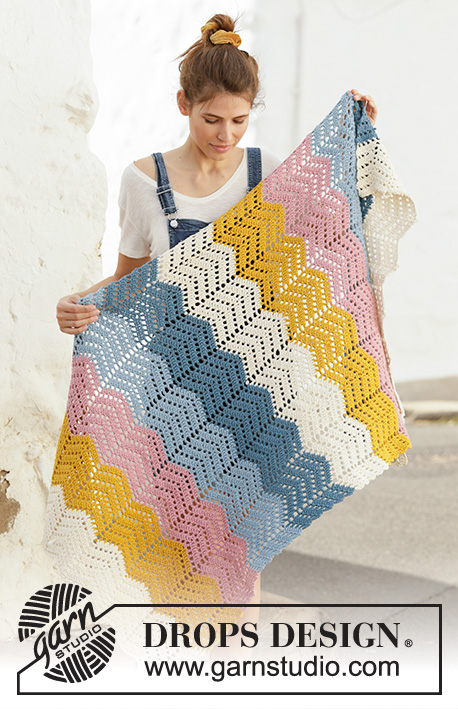 Free Crochet Pattern for a Zig-Zag Afghan