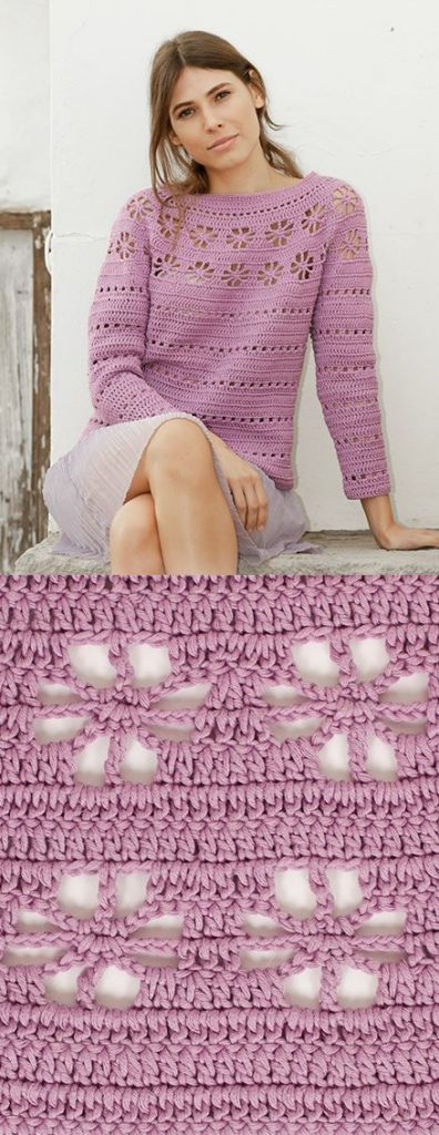 Free Crochet Pattern for a Daisy Chain Sweater