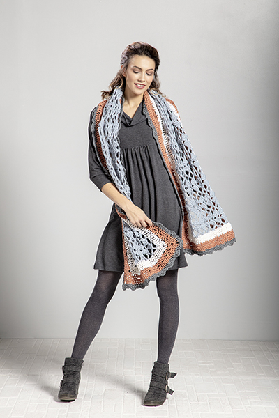 Free Crochet Pattern for a Ladies Wrap Alpine